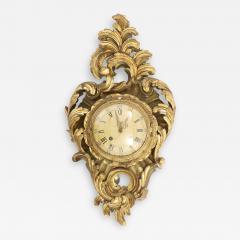 Gilt Wood Framed Swedish Wall Cartel Clock - 2109282