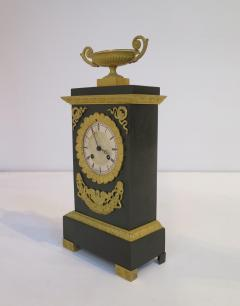 Gilt and Patinated Bronze French Empire Mantel Clock - 1914177