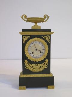 Gilt and Patinated Bronze French Empire Mantel Clock - 1914178