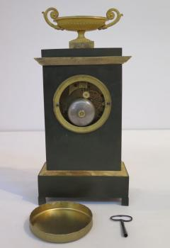 Gilt and Patinated Bronze French Empire Mantel Clock - 1914179