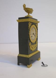 Gilt and Patinated Bronze French Empire Mantel Clock - 1914185