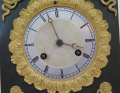 Gilt and Patinated Bronze French Empire Mantel Clock - 1914189