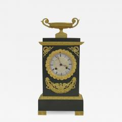 Gilt and Patinated Bronze French Empire Mantel Clock - 1947415