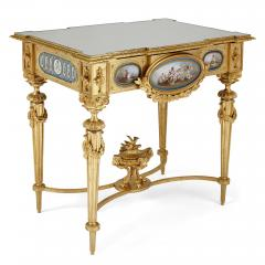 Gilt bronze and S vres style porcelain Louis XVI style casket on stand - 1954707