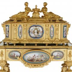 Gilt bronze and S vres style porcelain Louis XVI style casket on stand - 1954711