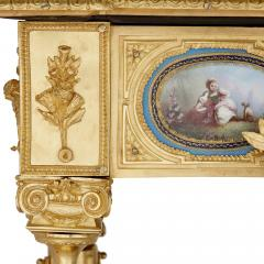 Gilt bronze and S vres style porcelain Louis XVI style casket on stand - 1954721