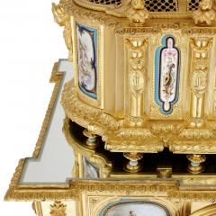 Gilt bronze and S vres style porcelain Louis XVI style casket on stand - 1954722