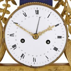 Gilt bronze and lapis French Empire period mantel clock - 1234913