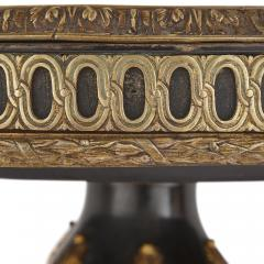 Gilt bronze and porcelain Louis XVI style circular side table - 1459586