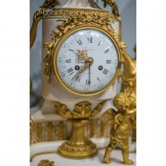 Gilt bronze and white marble Mantel Clock with Enamel Dial by Eug ne Hazart - 2034485