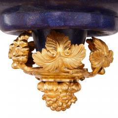 Gilt metal and lapis lazuli twelve light chandelier - 1907359