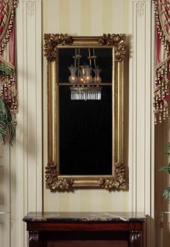 Gilt wood Pier Mirror with Elaborate Carved Corner Elements - 1228643