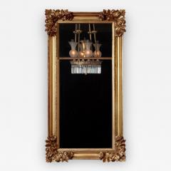 Gilt wood Pier Mirror with Elaborate Carved Corner Elements - 1229352