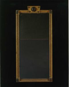 Giltwood And Composition Mirror In The Egyptian Taste With Faux Bronze Detailing - 1665225