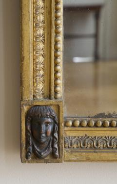 Giltwood And Composition Mirror In The Egyptian Taste With Faux Bronze Detailing - 1665228