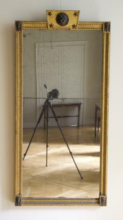 Giltwood And Composition Mirror In The Egyptian Taste With Faux Bronze Detailing - 1665326