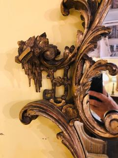 Giltwood Chinoiserie Style Wall Mirror with Girandole Continental - 1239550