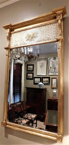 Giltwood Federal Mirror with glomis Panel - 768373