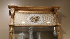 Giltwood Federal Mirror with glomis Panel - 768375