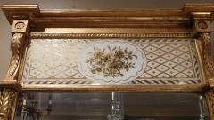Giltwood Federal Mirror with glomis Panel - 768376