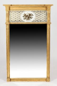 Giltwood Federal Mirror with glomis Panel - 768378
