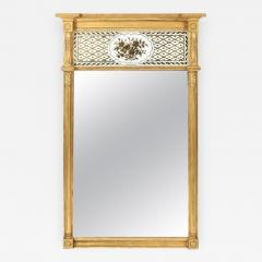 Giltwood Federal Mirror with glomis Panel - 770249