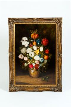 Giltwood Frame Still Life Oil Canvas Painting - 1128903