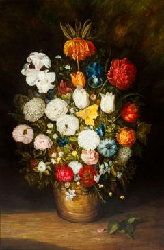 Giltwood Frame Still Life Oil Canvas Painting - 1129065