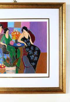 Giltwood Framed Itzchack Tarkay Signed Numbered Serigraph - 1347574