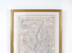 Giltwood Framed Matted Library Study Room Map - 1347639