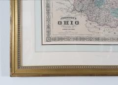 Giltwood Framed Matted Map Ohio - 1347611