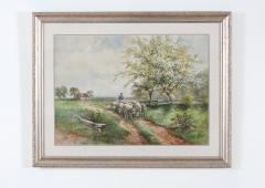 Giltwood Framed Water Color Painting - 1347537