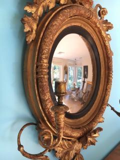 Giltwood Regency Girandole Mirror - 1891446