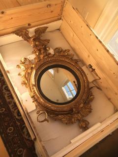 Giltwood Regency Girandole Mirror - 1891453
