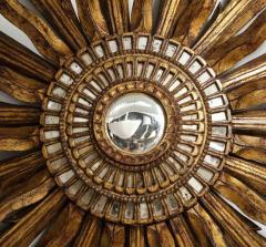 Giltwood Sunburst Mirror in the Manner of Live Vautrin - 2067613
