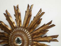 Giltwood Sunburst Mirror in the Manner of Live Vautrin - 2067616