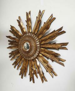 Giltwood Sunburst Mirror in the Manner of Live Vautrin - 2067618