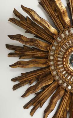 Giltwood Sunburst Mirror in the Manner of Live Vautrin - 2067620