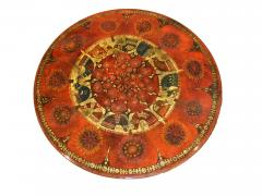 Ginette Raoult Ginette Raoult Pedestal table in red lacquer decorated with gold leaf - 1471431