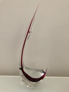 Gino Cenedese Pair Cenedese Glass large Murano birds - 1370189