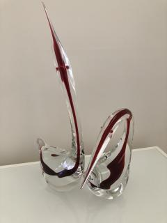Gino Cenedese Pair Cenedese Glass large Murano birds - 1370210