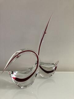 Gino Cenedese Pair Cenedese Glass large Murano birds - 1370215