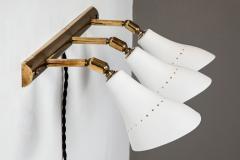 Gino Sarfatti Pair of 1950s Gino Sarfatti Model 114 3 Shade Articulating Wall Lights - 966068