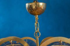 Gino Vistosi Vistosi Gray Murano Glass Disc Chandelier Italy 1970s - 2057443