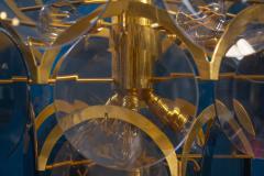 Gino Vistosi Vistosi Gray Murano Glass Disc Chandelier Italy 1970s - 2057450