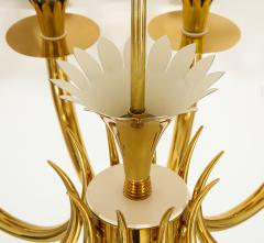 Gio Ponti 10 Arm Brass Chandelier - 1266201