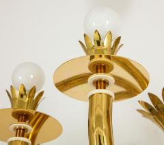 Gio Ponti 10 Arm Brass Chandelier - 1266203