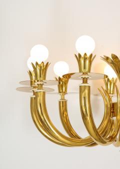 Gio Ponti 10 Arm Brass Chandelier - 1266204