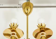 Gio Ponti 10 Arm Brass Chandelier - 1266206