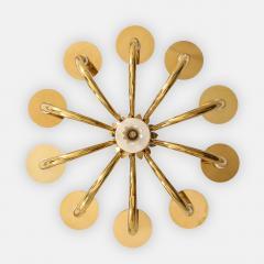 Gio Ponti 10 Arm Brass Chandelier - 1266207